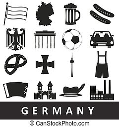 canada, set, eps10, land, symbolen, thema, stickers