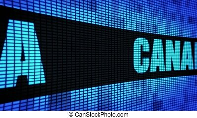 CANADA Side Text Scrolling LED Wall Pannel Display Sign Board