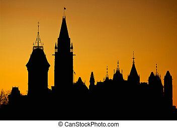 canada, silhouette