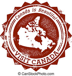 Canada Stamp for Tourism