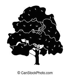 canada, style, symbole canadien, web., illustration, unique, vecteur, noir, maple., icône, stockage