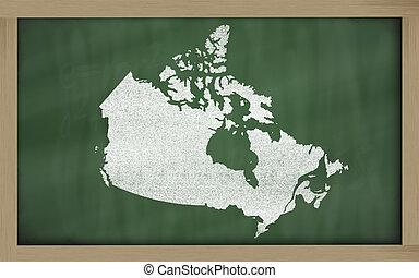 canada térkép, áttekintés, tábla