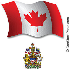 canada textured wavy flag vector