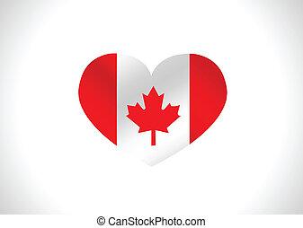 canada, thèmes, drapeau, conception, idée
