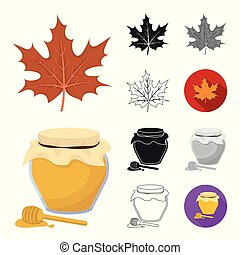 Canada Thanksgiving Day cartoon, black, flat, monochrome, outline icons in set collection for design. Canada and Tradition vector symbol stock web illustration.