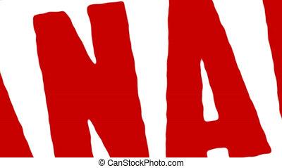 canada, timbre, caoutchouc, fait, rouges