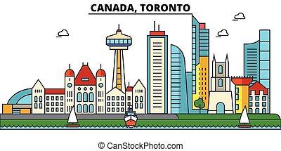 Canada, Toronto. City skyline architecture, buildings,...