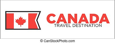 Canada travel destination banner - Vector illustration of...