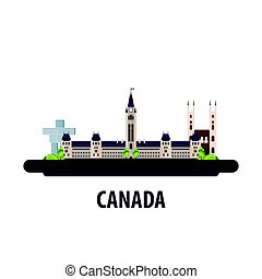 Canada travel location. Vacation or trip and holiday. -...