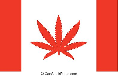 canada, uso, concetto, foglia, permesso, paese, marijuana, marijuana, bandiera, medico