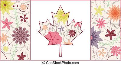 canada, vendange, drapeau, 2