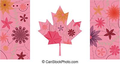 canada, vendange, drapeau