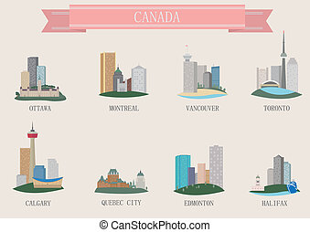 canada, ville, symbole.