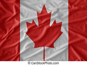 canada vlag, achtergrond, weefsel, textuur