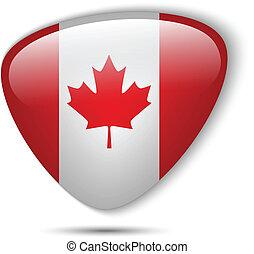 canada vlag, glanzend, knoop