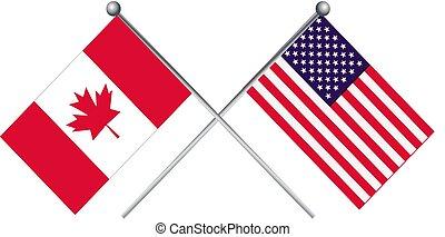 canada vlag, usa