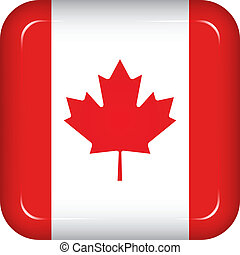 canada vlag, vector