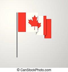 Canada waving Flag creative background
