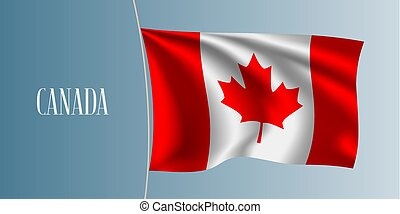 Canada waving flag vector illustration