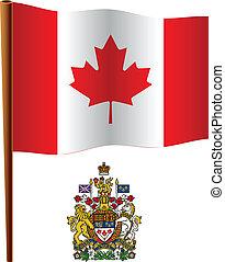 canada wavy flag