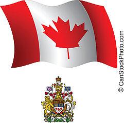 canada wavy flag and coat