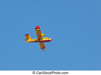 Canadair in action during a fire