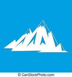canadees, pictogram, bergen, witte