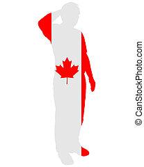 canadense, saudação