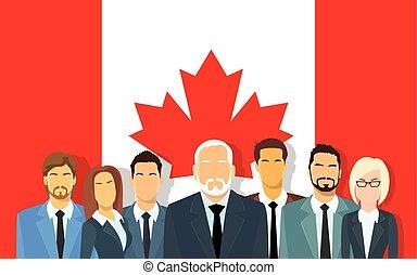 canadese, affari persone, sopra, uomini affari, squadra, ...