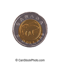 canadese dollar, chocolade, muntjes
