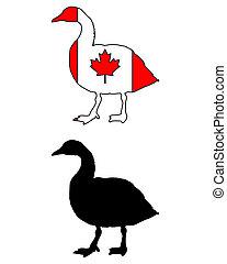 canadese gans, vlag
