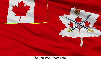 Canadian Army Flag Closeup Seamless Loop