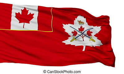 Canadian Army Flag Isolated Seamless Loop