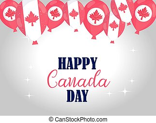 Canadian balloons of happy canada day vector design