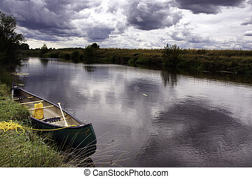 Canadian Canoe on the River Rother
