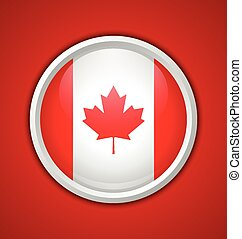 Canadian circular badge