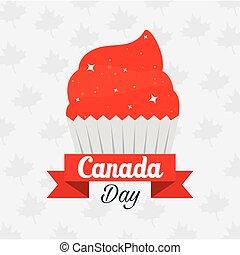 Canadian cupcake of happy canada day vector design