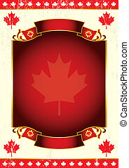 Canadian background for a poster.
