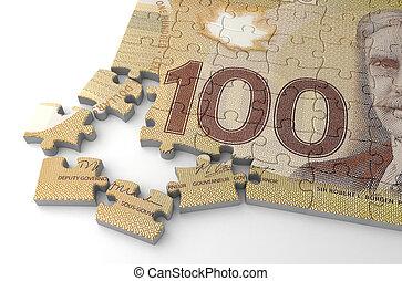 Canadian Dollar Puzzle