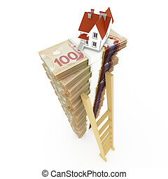 Canadian dollar stack