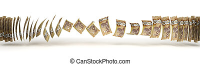 Canadian Dollar Transfer (isolated with clipping path)