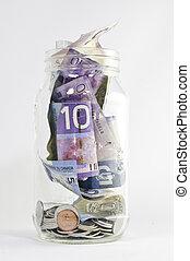 Canadian Dollars in Jar