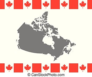 Canadian flag and map