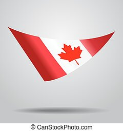Canadian flag background. Vector illustration.