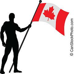 Canadian Flag Bearer