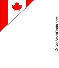 Canadian flag corner maple leaf frame design element