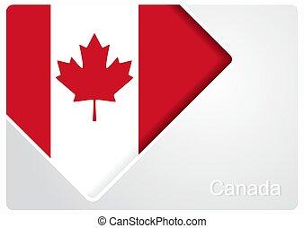 Canadian flag design background. Vector illustration.