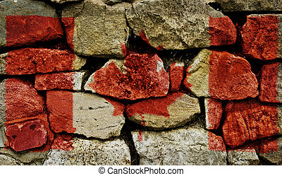 Canadian Flag - The Canadian Flag painted on to a stone...