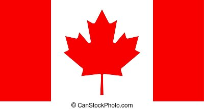 Canadian flag, flat layout, vector illustration