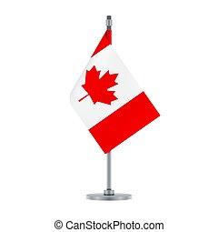 Canadian flag, flat layout, vector illustration